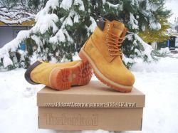 Скидка -30 на женские зимние ботинки Timberland - натуральный мех, нубук