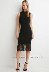 Шикарное платье миди с кружевом от Forever21