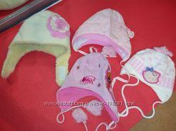 Красивые теплые шапочки для девочки р. 44-52