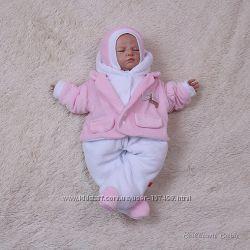 Велюровый комбинезон для новорожденных Little beauty