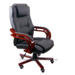 Кресло руководителя черное, бежевое