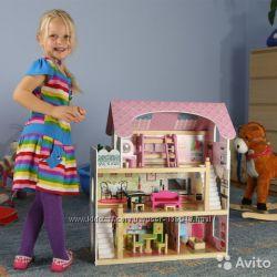 Кукольный домик с мебелью и куклами. Видеообзор