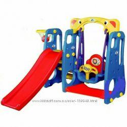 Детский игровой комплекс с качелей и горкой 4 в 1