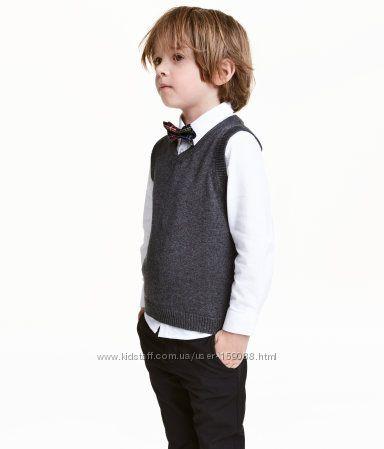 Набор из рубашки с галстуком и жилетки