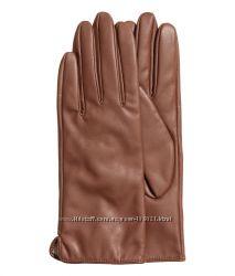 Кожаные перчатки H&M. Премиум качество. Все размеры в наличии.