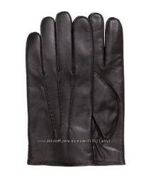 Мужские кожаные перчатки H&M. Премиум качество. В наличии