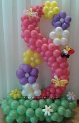 Цветы из воздушных шариков к праздникам