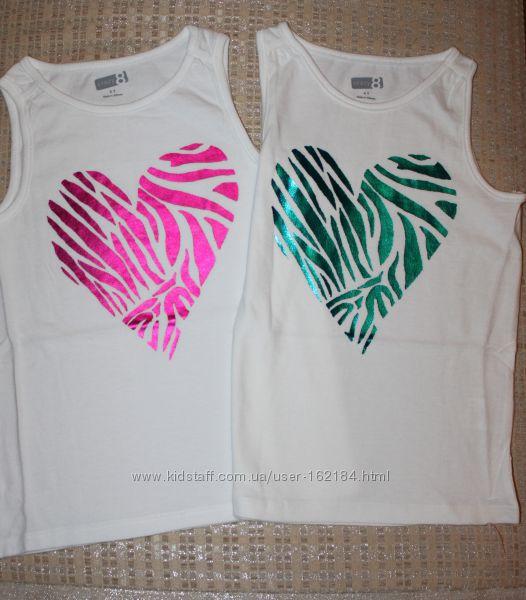 Новые футболки, майки девочке 4, 5, 6 лет от Crazy8, Gymboree