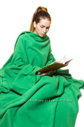 Плед одеяло с рукавами 150х190 Зеленый