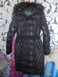 Натуральный теплый длинный фирменный snowimage пуховик пальто зимнее