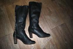 Сапоги Medea кожаные черные брендовые классика