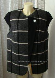 Пальто жилет теплый шерсть качество р. 54 7306