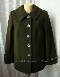 Пальто демисезонное шерсть качество р. 52 7313