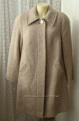 Пальто демисезонное шерсть качество р. 62 7321