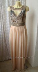Платье вечернее в пол Lace&Beads р. 48 7389