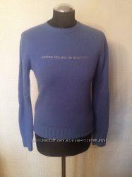 Очень теплый свитер Benetton 100 шерсть