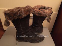 Качественные кожаные сапоги осень-зима Размер 40