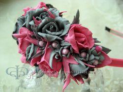 Ободок Розовая мечта