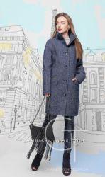 Стильные пальто прямой силуэт модели 2017 разные цвета