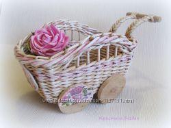 плетеная тележка