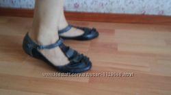 Туфли балетки кожаные 38р. 24, 5см