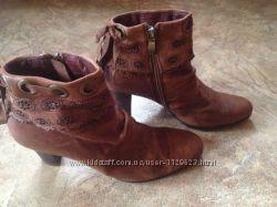 Женские кожаные осенние ботинки, ботильоны Цена снижена
