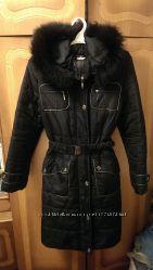 пальто черное зима в хорошем состоянии