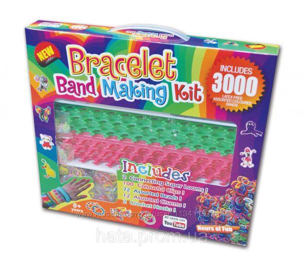 Набор Rainbow loom bands 2 станка резинки для плетения браслетов 3000 Brace