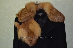 пальто с мехом лесы