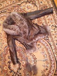 Кожаная куртка с подстежкой Цена снижена