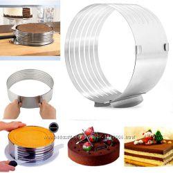 Кольцо для формирования и разрезания коржей для торта.
