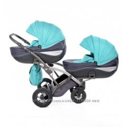 Универсальная коляска для близнецов Tako Omega Duo