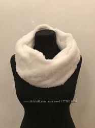 Меховой женский хомут шарф снуд
