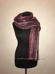 Зимний теплый женский шарф ангора с шерстю Мегакачество