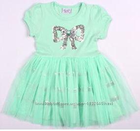 Нарядное летнее платье для девочек с фатином производства Турции