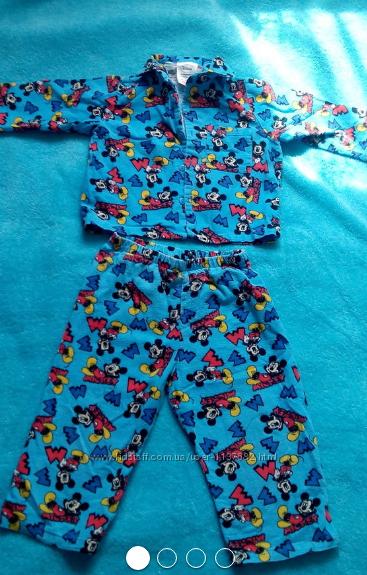 Байковая пижама Disney на 1. 5-2 года.