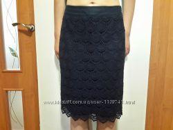 нарядная юбка, гипюр р. 36 S. OLIVER , ленкоттон. Состояние новой.