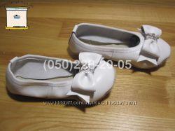 Чешки шкіряні білі з бантиком  Запоріжжя Україна різні розміри 135-240 мм