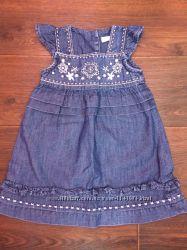 новое, джинсовое платье, сарафан Германия 6-12 мес.