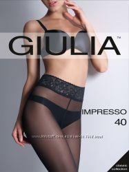 Колготки с кружевным поясом и рисунками ТМ Giulia - мегавыбор
