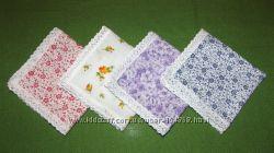 носовые платочки с кружевом