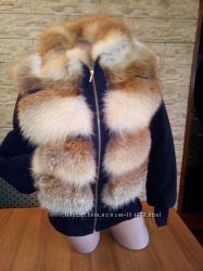 Куртка замшевая с мехом лисы