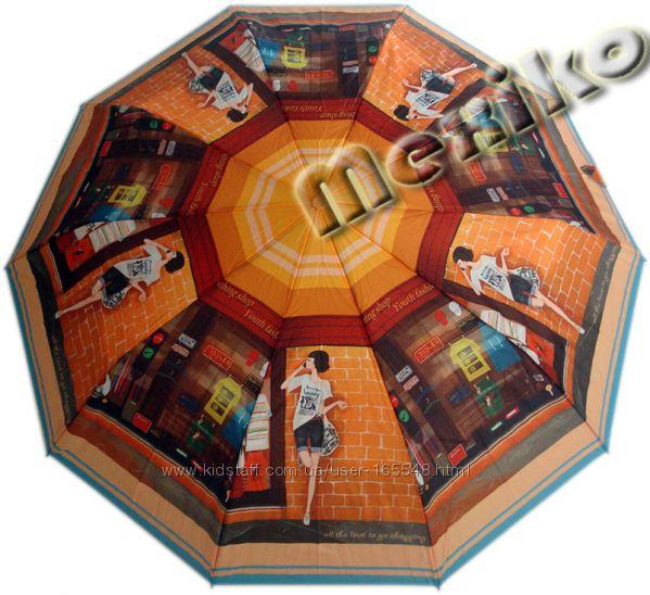 Модный зонт ZEST, полуавтомат, серия 10 спиц, Шоппинг