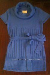Продам симпатичную тунику синего и черного цвета Делорас размер 134, 140, 164