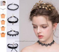Чокеры, ожерелья на шею разные