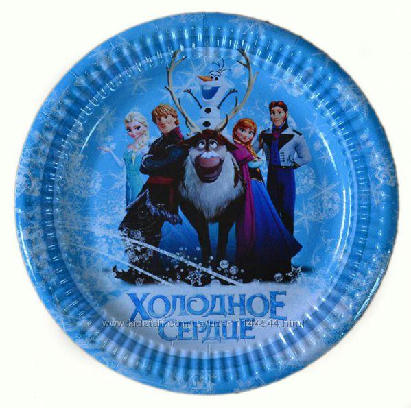 Одноразовая посуда с изображением героев мультфильма Холодное сердце
