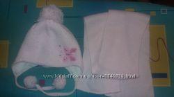 Детская зимняя шапка с шарфом