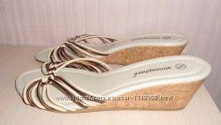 Новые босоножки, сандалии, шлепанцы Atmosphere, р-р 6 39, кожа, Италия