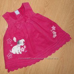 Нарядное платье, сарафан Matalan, микровельвет, 0-3 мес оригинал