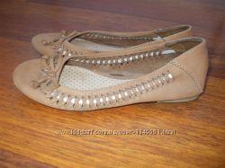 Кожаные туфли балетки мокасины Marks&spencer р. 2 34, 5